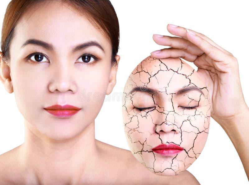 应用关心皮肤透明油漆 免版税库存照片