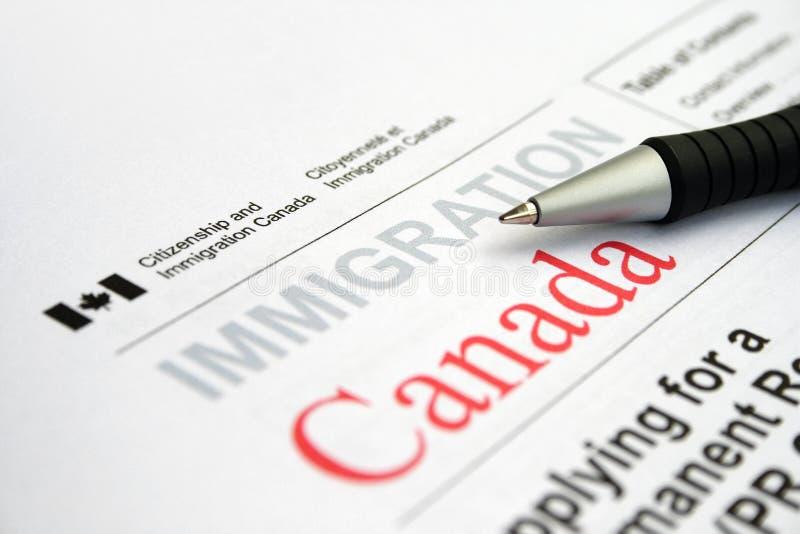应用加拿大签证 免版税库存照片