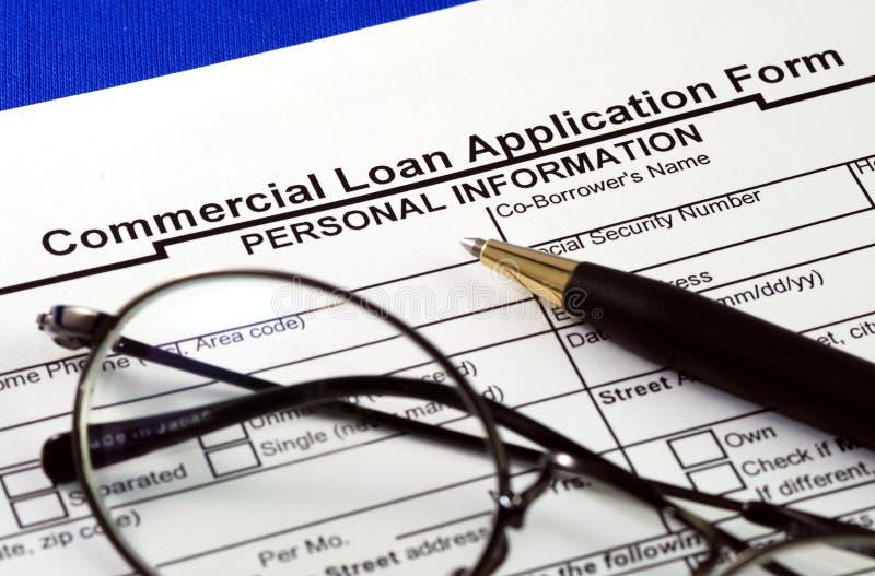 应用商业文件贷款 库存照片