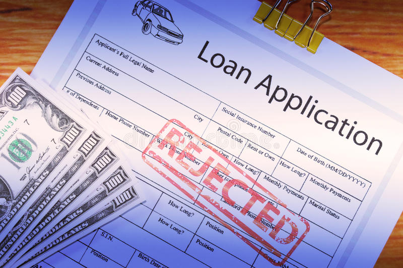 应用汽车贷款 库存照片