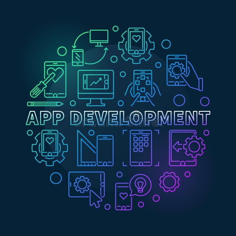 应用程序围绕色的概述例证的发展传染媒介 库存例证