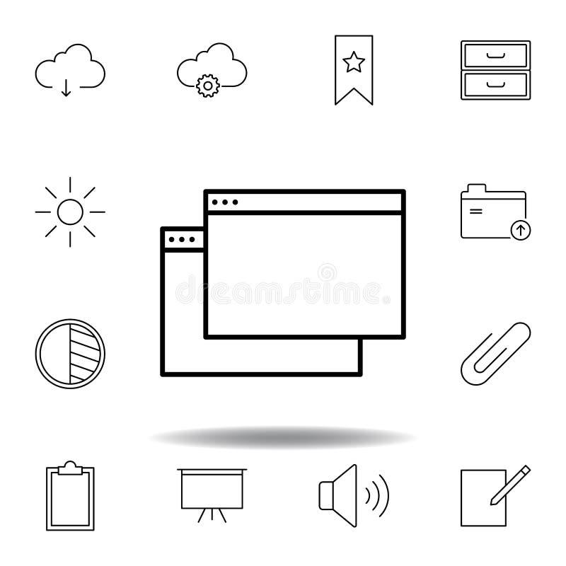 应用程序窗口概述象 详细的套unigrid多媒体例证象 E 皇族释放例证