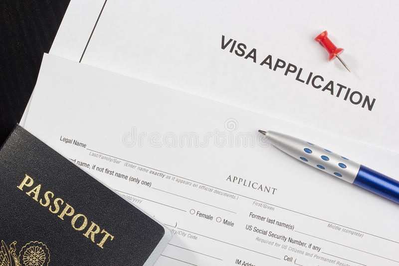 应用签证 库存照片