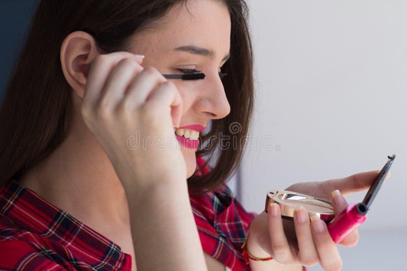 应用美丽的女孩组成 库存照片