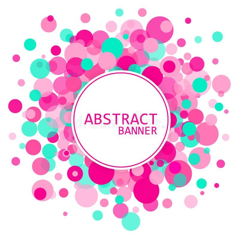 应用背景许多圈子的例证有用的向量 背景起泡向量 与色环的抽象横幅 皇族释放例证