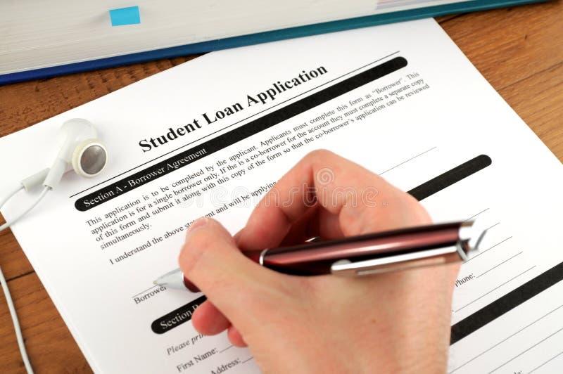 应用贷款签署的学员 图库摄影