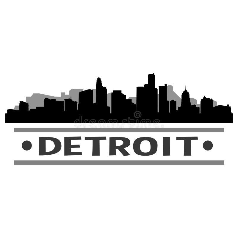 底特律地平线城市象传染媒介艺术设计 库存例证