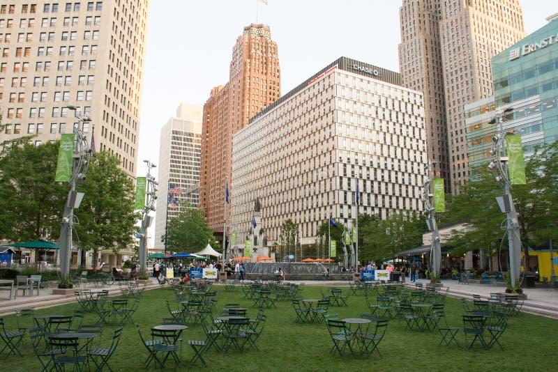 底特律盛大马戏在夏天 免版税库存图片