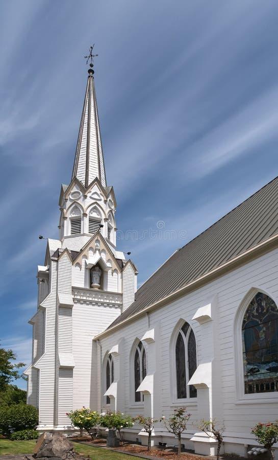底特律第一长老会教堂在纳帕,加利福尼亚 库存照片