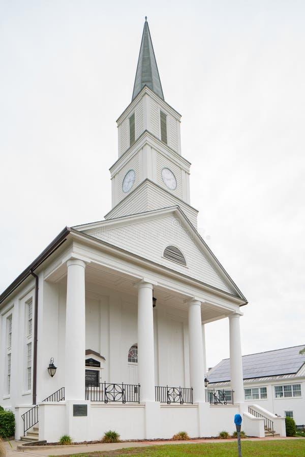 底特律第一长老会教堂塔拉哈西FL 免版税图库摄影
