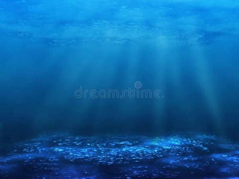 底部水中 库存例证
