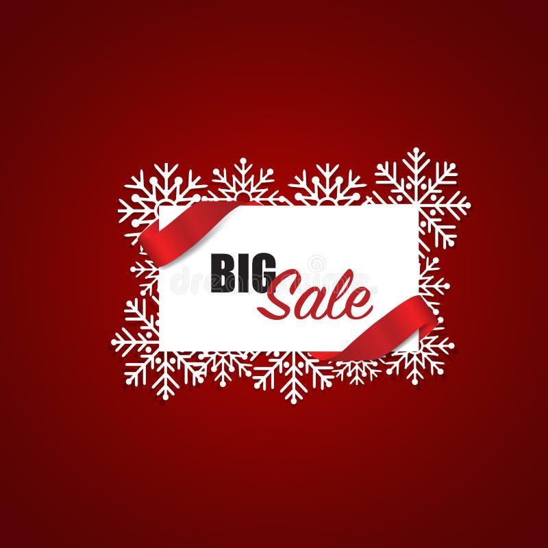 年底销售,圣诞节销售设计模板 销售优惠券, v 皇族释放例证