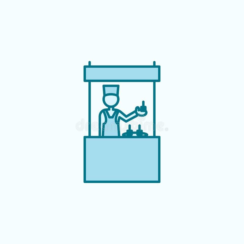 店主2种族分界线象 简单的色素例证 店主概述从购物中心集合的标志设计 皇族释放例证