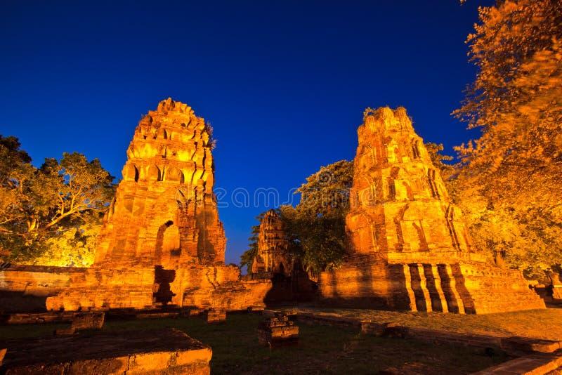 破庙在泰国 免版税库存图片