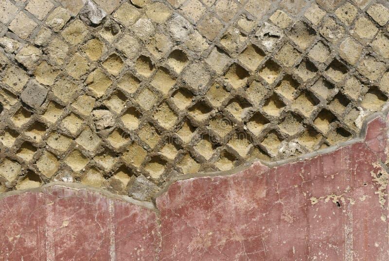 庞贝城墙壁 库存图片