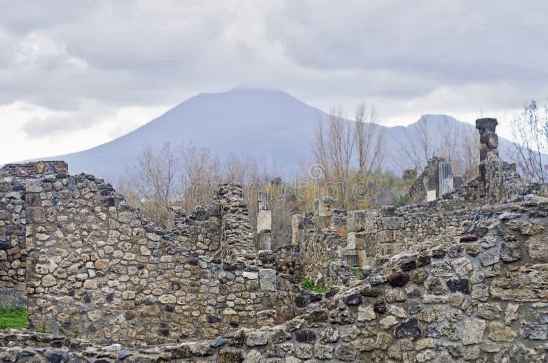 庞贝城废墟,意大利 库存照片