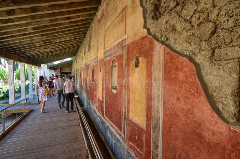 庞贝城,那不勒斯褶皱藻属地区,意大利 免版税图库摄影
