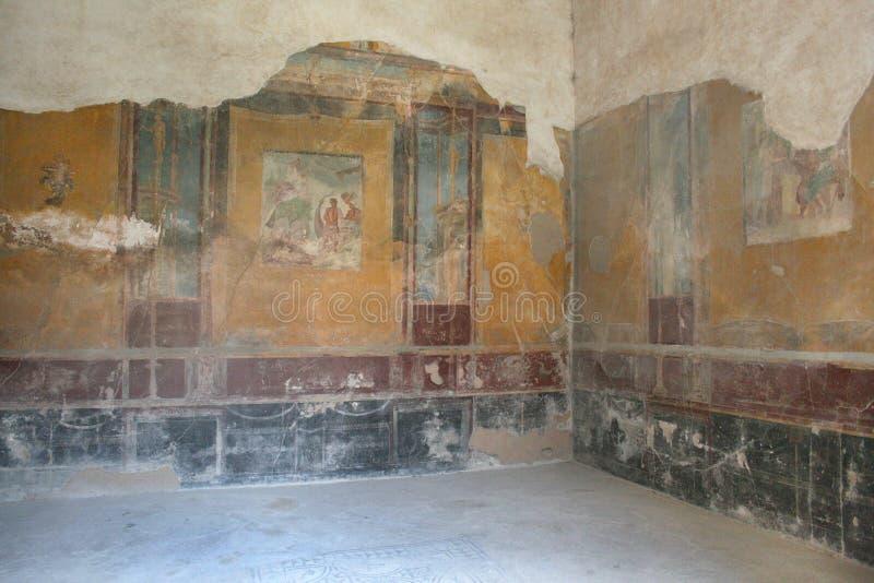 庞贝城壁画 那不勒斯(意大利) 免版税图库摄影
