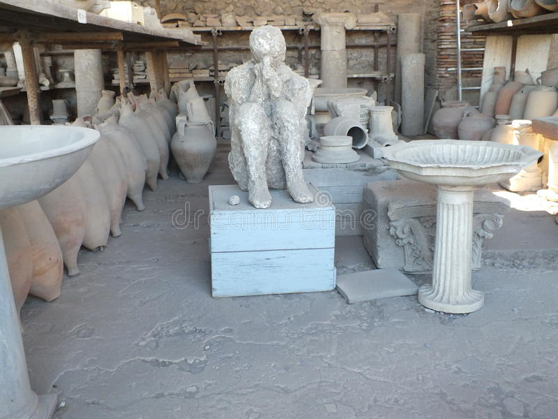 庞贝城废墟 图库摄影