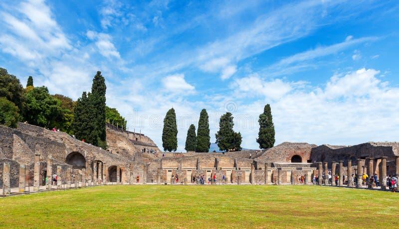 庞贝城,意大利废墟  图库摄影