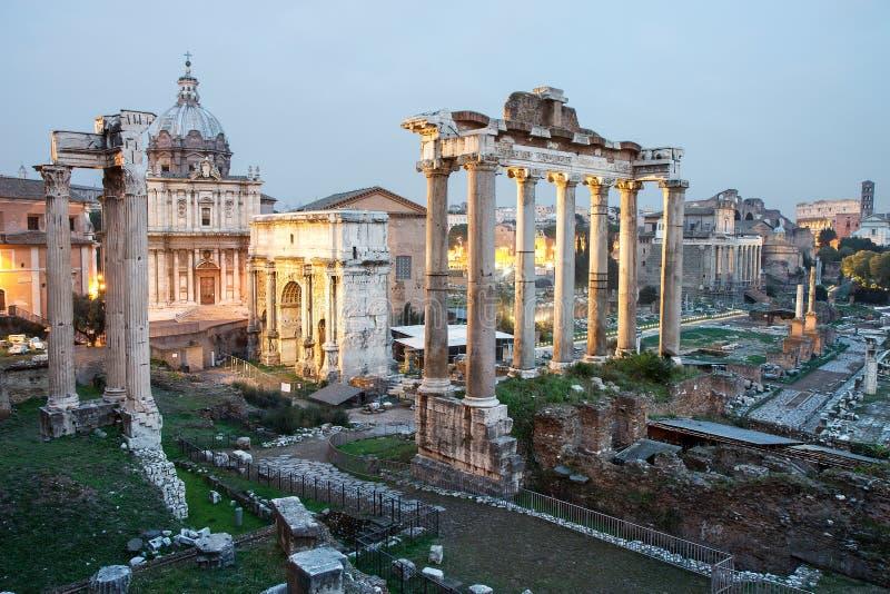 废墟在罗马广场,罗马,意大利 库存照片