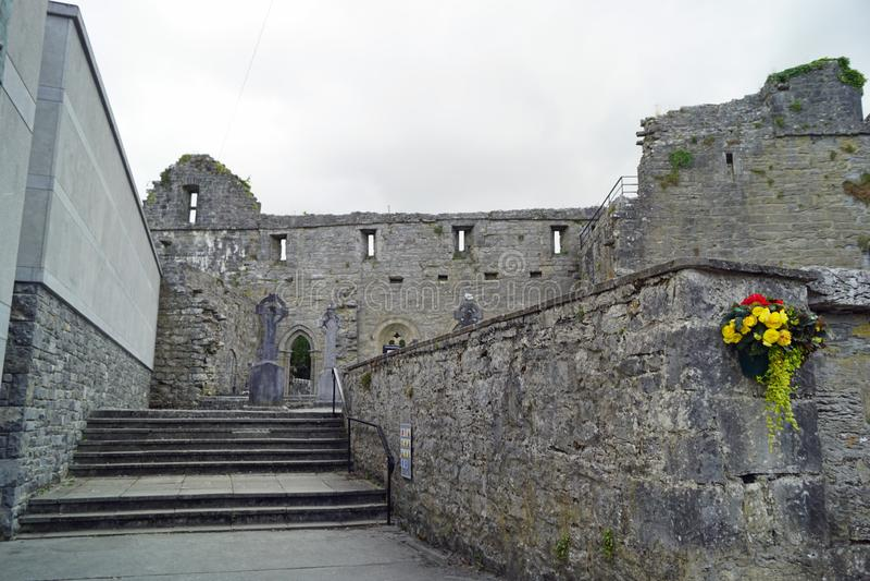 废墟在阿什富德爱尔兰 免版税库存图片