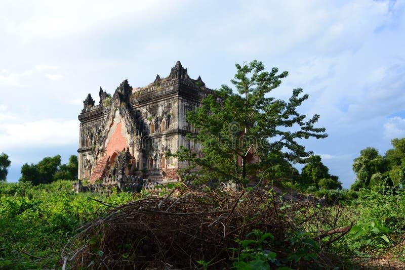 废墟的古老宫殿 阿瓦 曼德勒地区 缅甸 库存图片