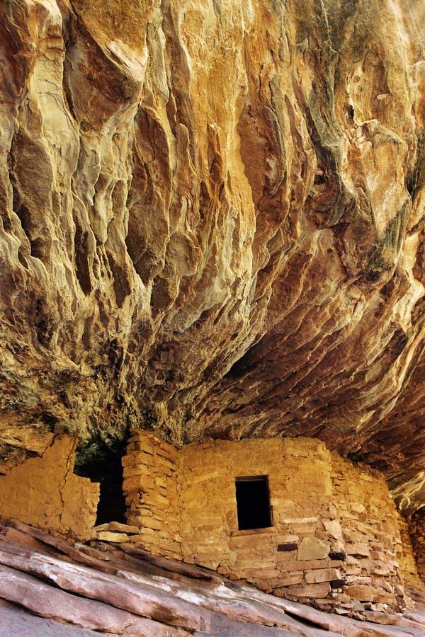 废墟,南骡子峡谷,犹他 库存照片