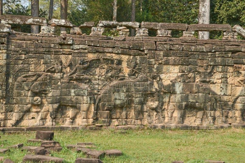 废墟吴哥窟,暹粒,柬埔寨 免版税库存图片