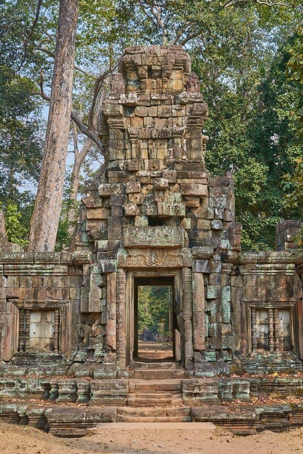 废墟吴哥窟,暹粒,柬埔寨 图库摄影