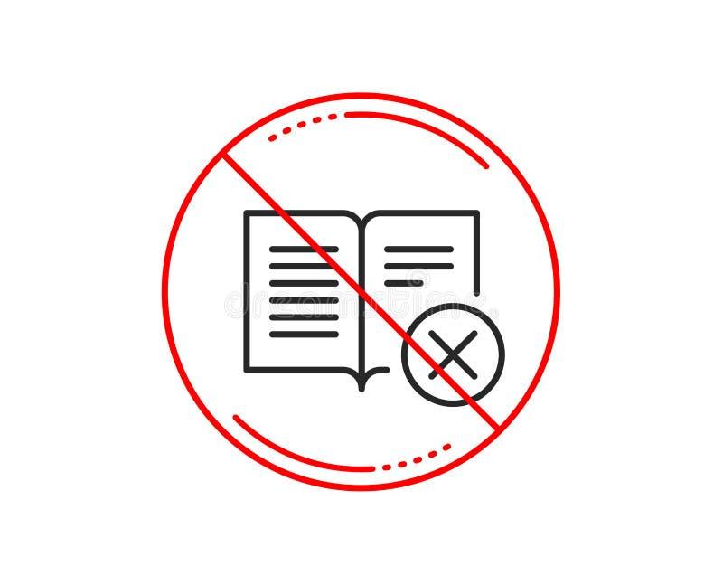 废弃物书线象 衰落读了标志 向量 库存例证