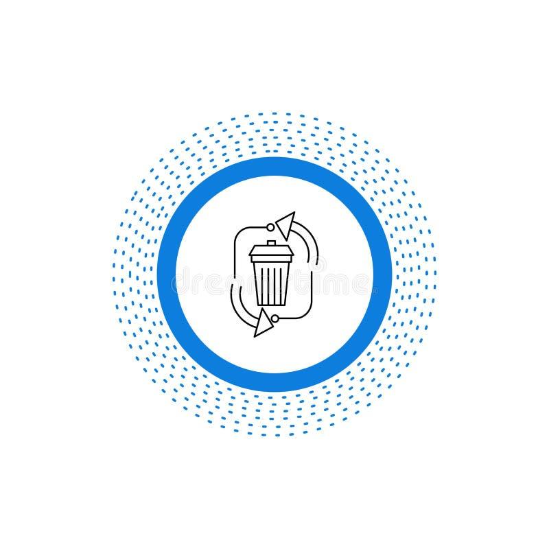 废物,处置,垃圾,管理,回收线象 r 皇族释放例证