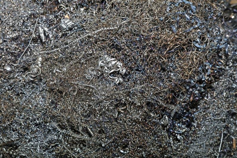 废金属削片 免版税库存照片