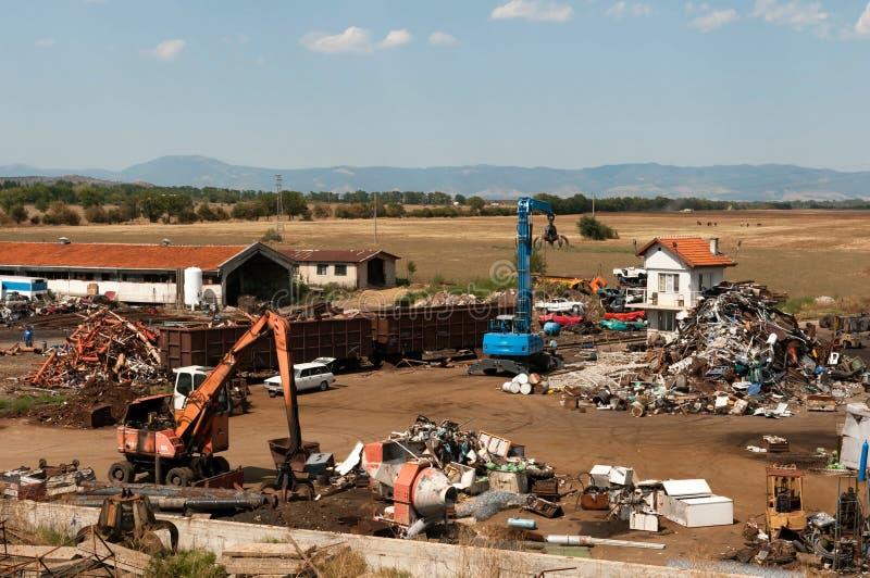 废金属的维修站 免版税库存照片