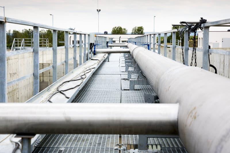废水处理水泵驻地 库存照片