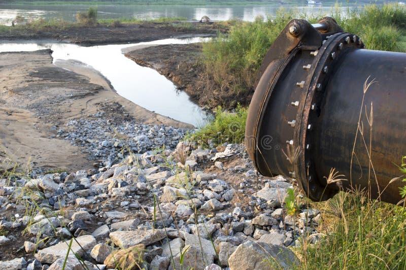 废水流失出口 库存照片