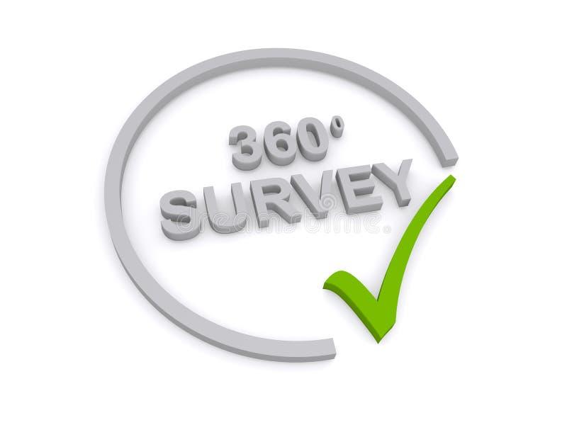 360度与校验标志的调查标志 向量例证
