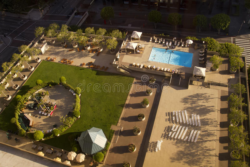度假旅馆游泳池 图库摄影