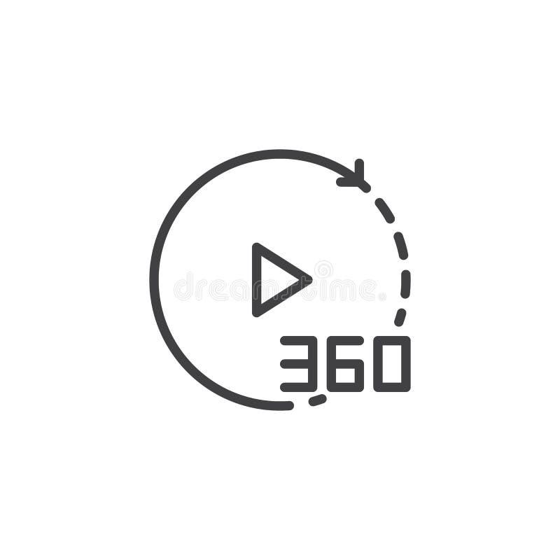 360度录影概述象 向量例证
