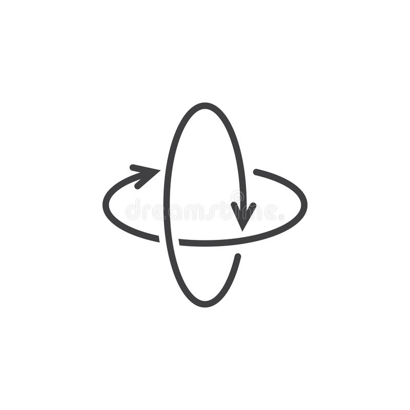 360度自转箭头排行象,虚拟现实概述ve 库存例证