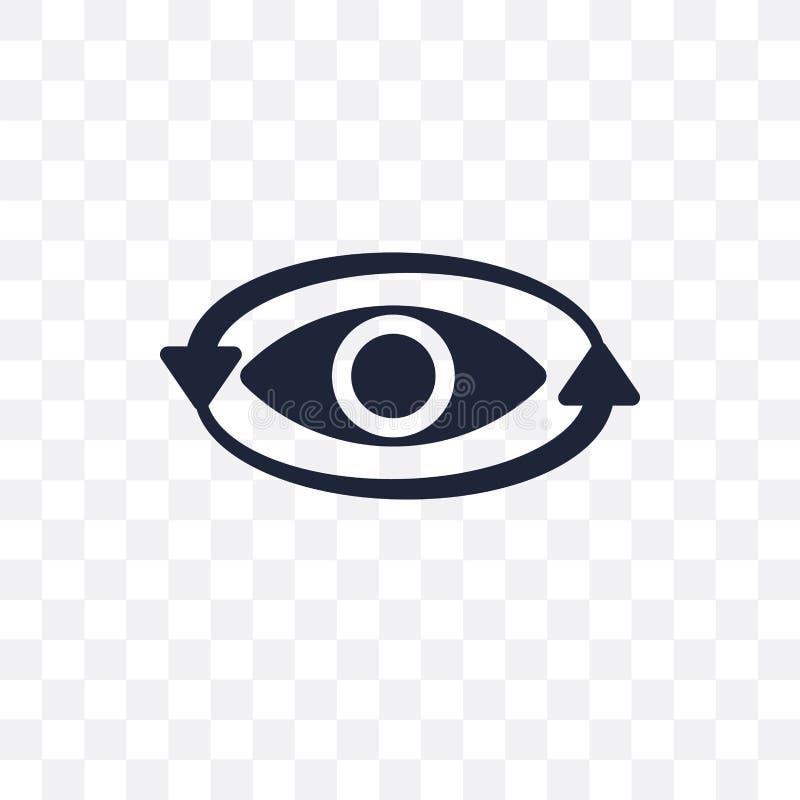 360度透明象 360度从艺术的标志设计 向量例证