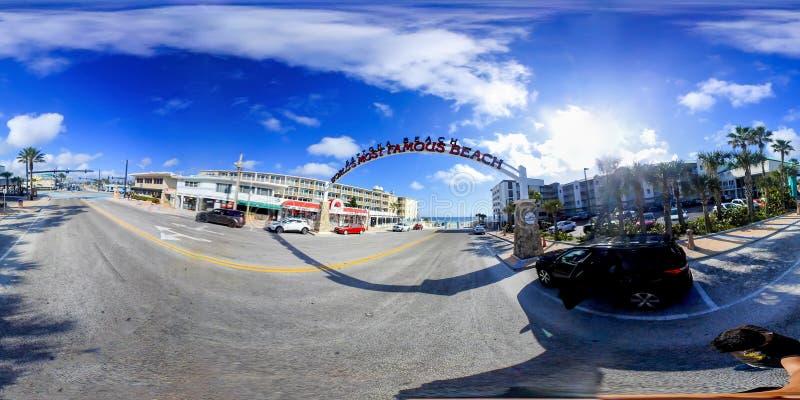 360度Daytona海滩沿海岸区看法  免版税库存图片