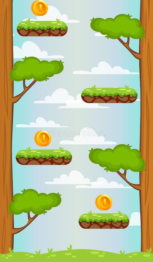 8座另外的eps格式草横向山向量 UI比赛的背景 与被分离的层数的垂直的背景流动比赛的 向量例证