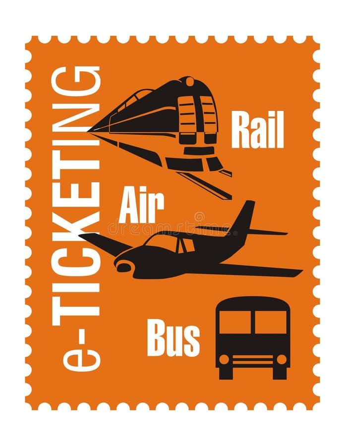 座席徽标旅行 向量例证