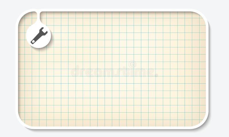 座标图纸 皇族释放例证