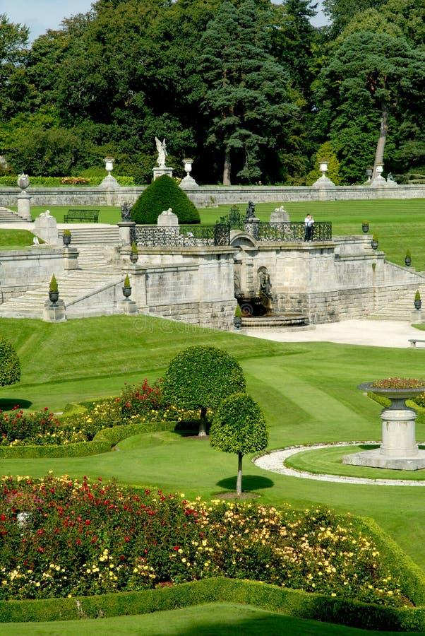 庭院从事园艺意大利powerscourt 免版税库存照片