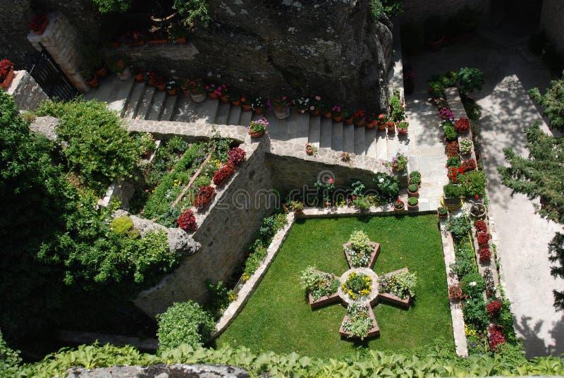庭院修道院 库存照片
