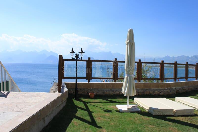 庭院俯视的海运 库存图片