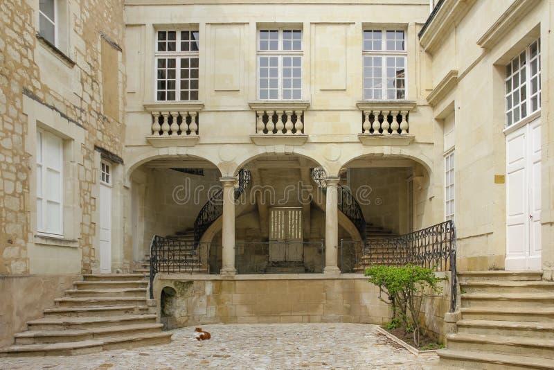 庭院和台阶 希农 法国 库存图片