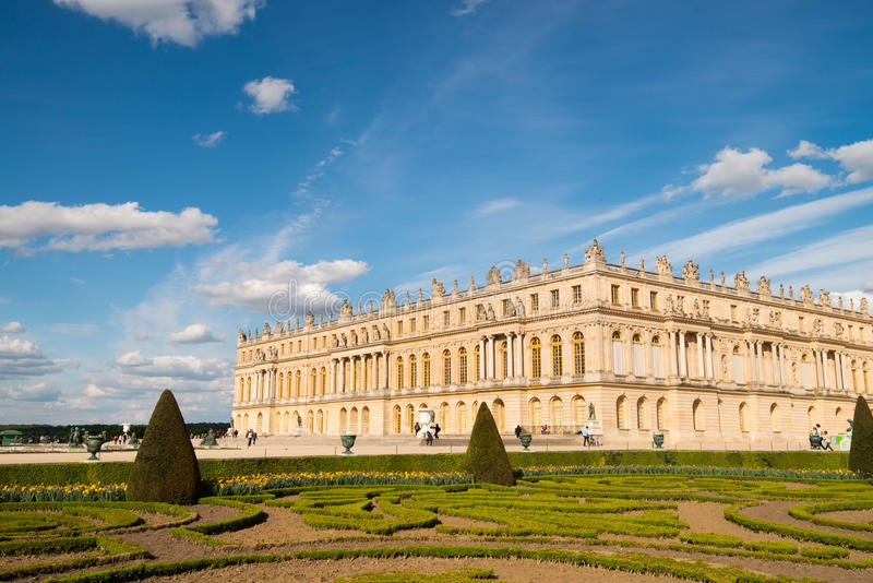 庭院和宫殿凡尔赛 库存照片